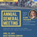 We're hosting our AGM at MERIT Brewing on April 25th!