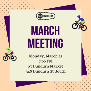Join us for our March meeting on Monday, March 25th!